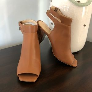 Nine West Open-Toe Block Heel Booties